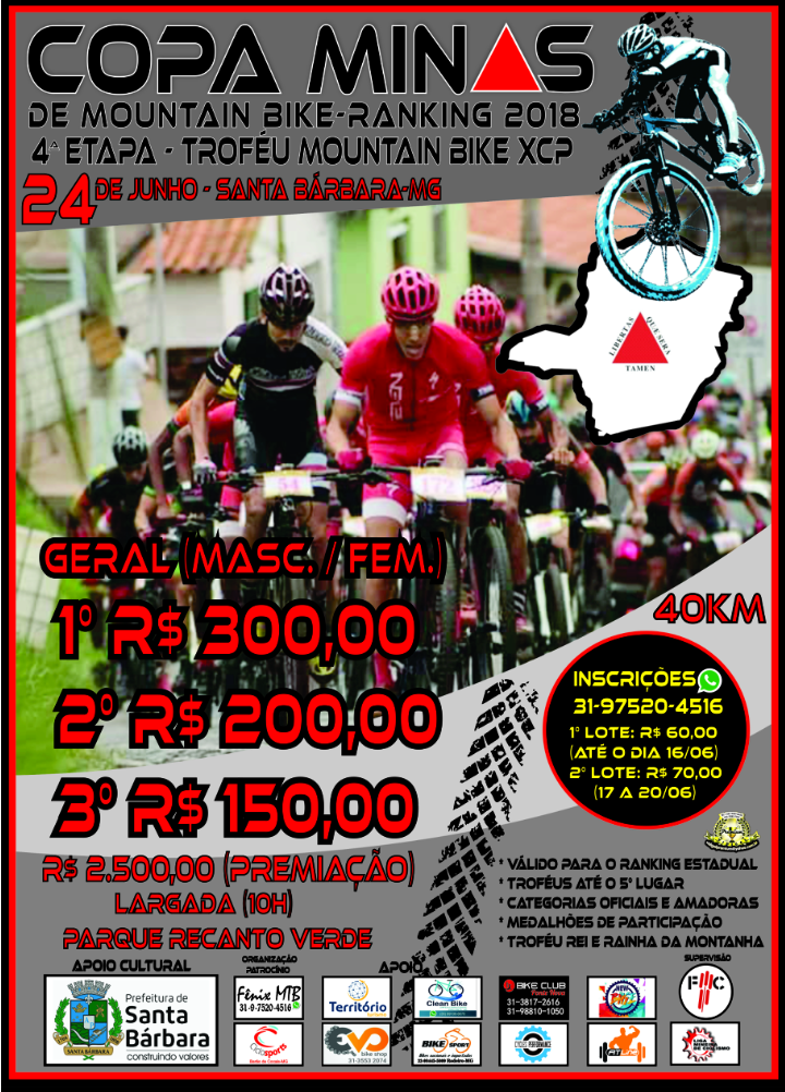 COPA MINAS DE MOUNTAN BIKE 2018
