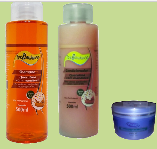 shampoo mandioca e mascara