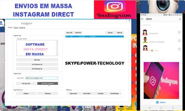 INSTAGRAM SOFTWARE DIRECT SHIPMENTS OF MASS