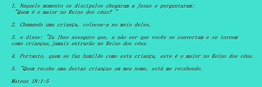Mateus 18:1-5