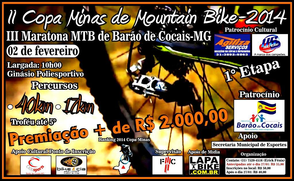 CARTAZ Copa Minas de MTB
