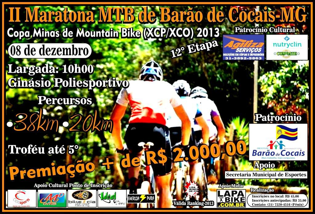 II Maratona MTB de Barão de Cocais-MG