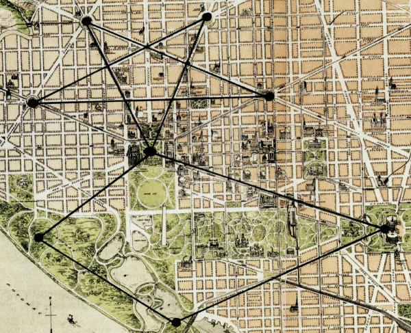 pentagrama da capital norte americana