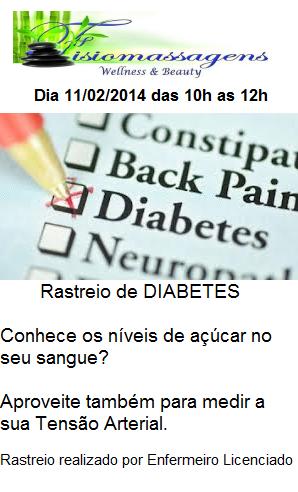Rastreio de Diabetes GRATUITO