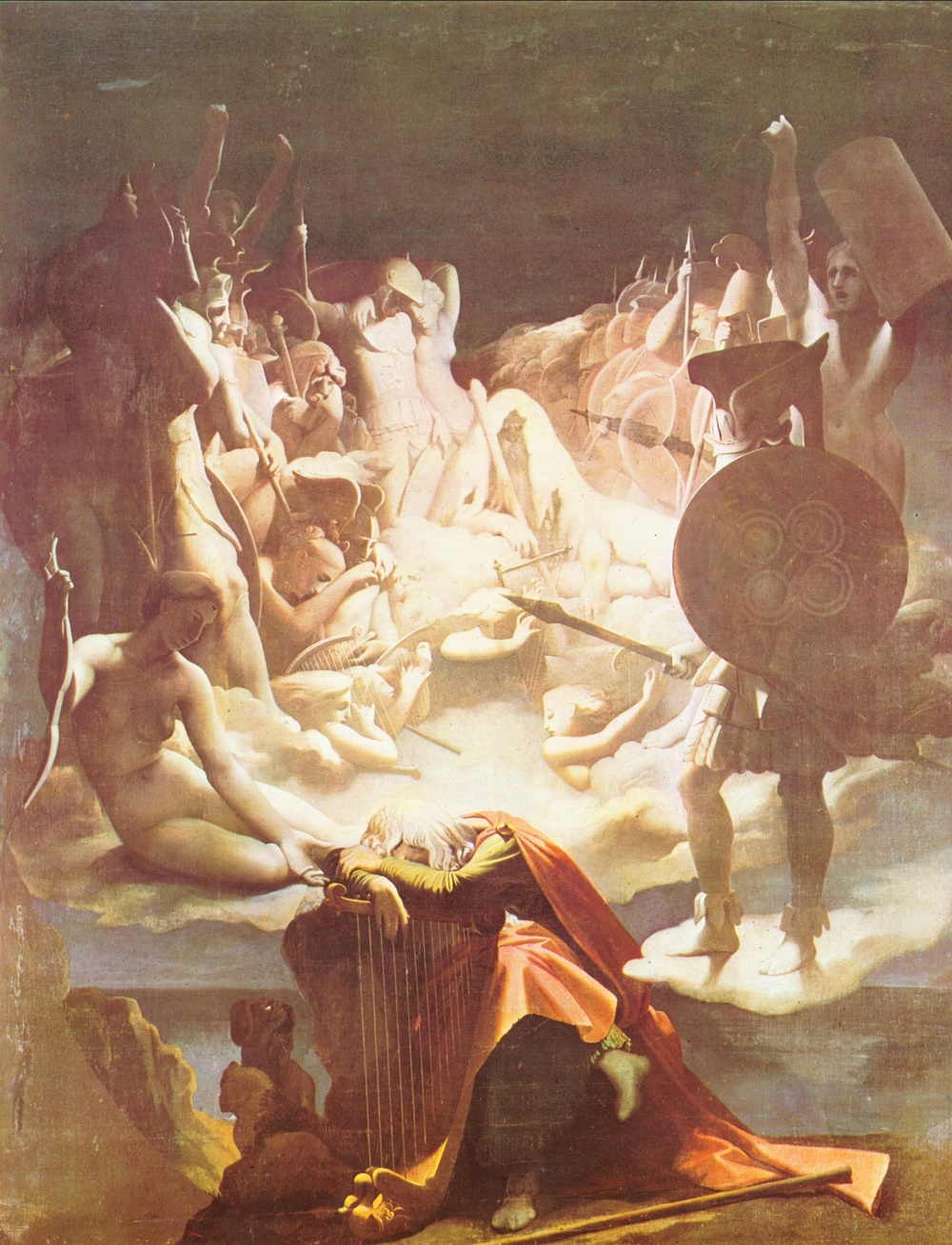 J.-A.-D. Ingres - O Sonho de Ossian - 1813 - Musée Ingres