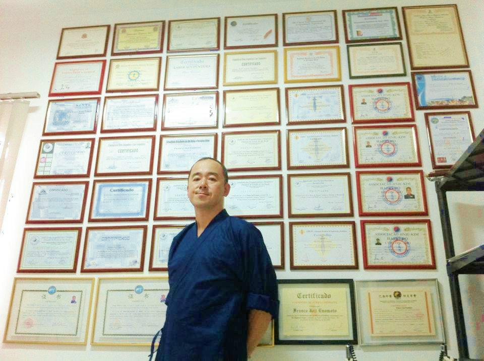 certificado prof Jóji Enomóto