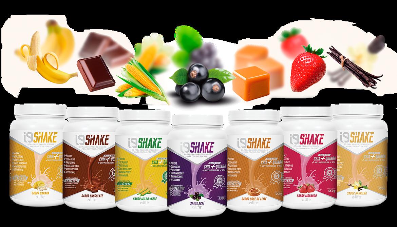 Linha de Shakes i9 Life nos sabores