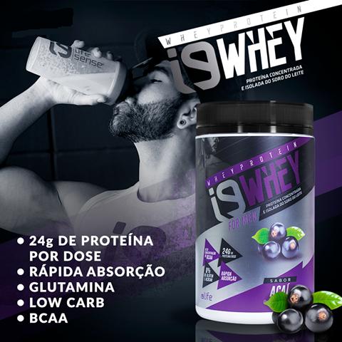 Suplemento Whey Protein para aumento de massa muscular