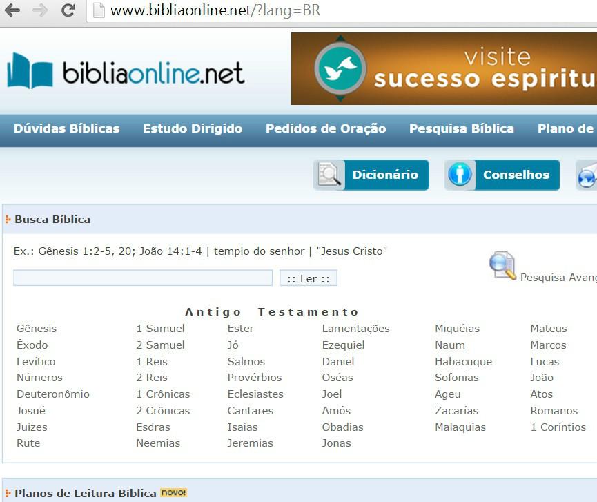 BÍBLIA ON LINE. NET