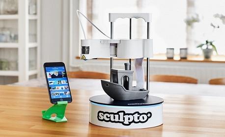 """Conheça """"Sculpto+"""" uma impressora 3D compacta e acessível que permite controle total por celular"""