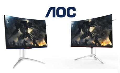 """AOC anunciou """"monitor gamer Agon AG322QCX"""" com tela curva e 144 Hz"""