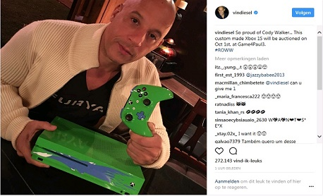 """Microsoft lançou um """"Xbox One S especial"""" em homenagem ao ator Paul Walker"""