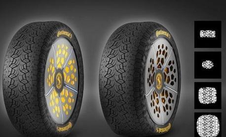 """Fabricante Continental criou um """"pneu inteligente"""" que se adapta às condições do terreno"""