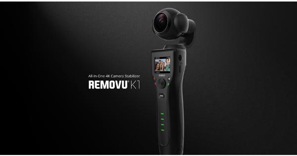 """Conheça """"Removu K1"""" uma câmera com gimbal embutido que filma em 4K e faz fotos em 12 MP"""