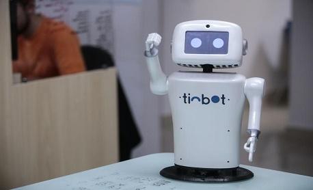 """Tecnologia: Conheça Robô """"Tinbot"""" que foi criado para desempenhar funções em ambientes de trabalho"""