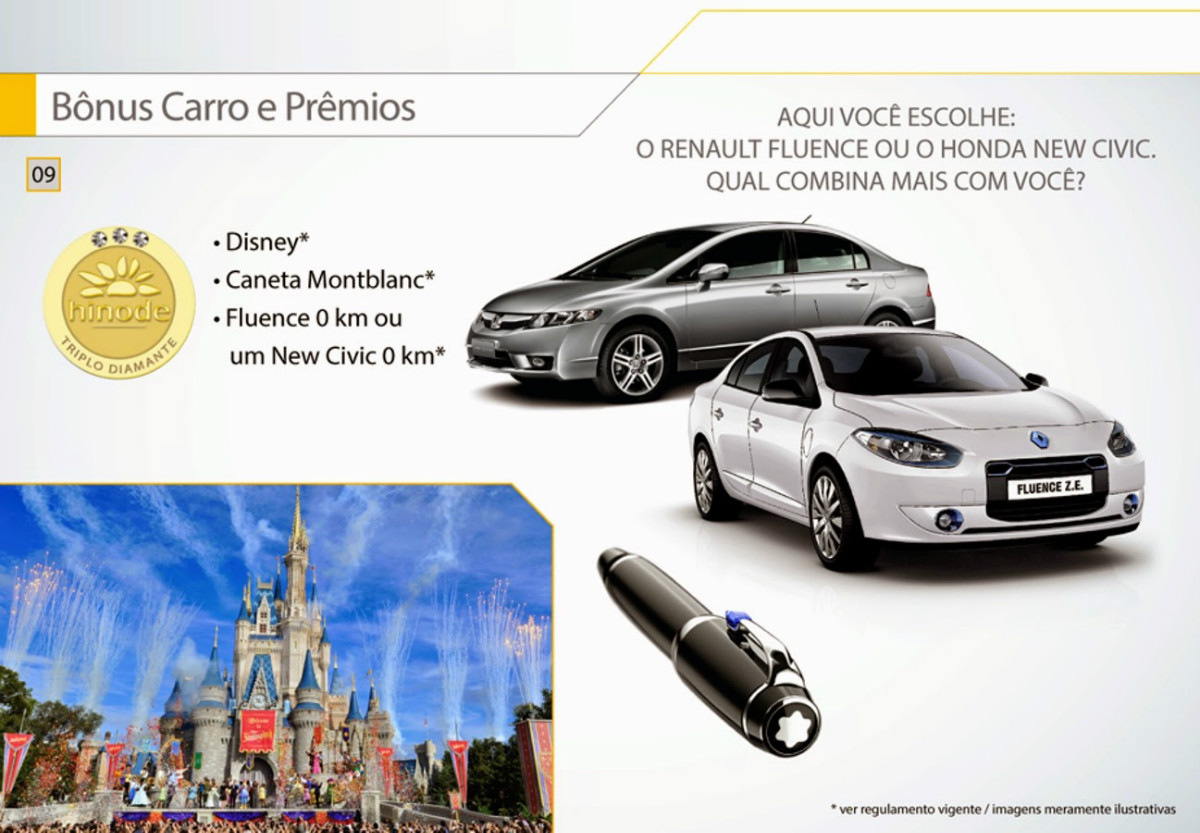 Apresentação Hinode bonus carro e premios faça seu cadastro Hinode no ID 96036