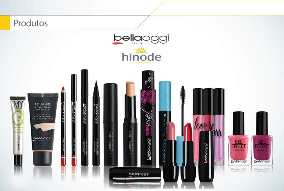 Cosméticos e maquiagem bellaoggi, apresentação de negócio Hinode, faça seu cadastro no Id 96036