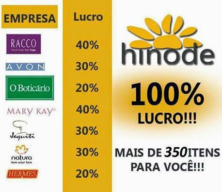 Hinode oferece 100% enquanto outras empresas maximo 30%, apresentação hinode faça seu cadastro no Id 96036
