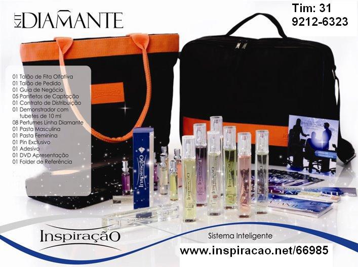 Kit Diamante com Bolsa e 8 perfumes