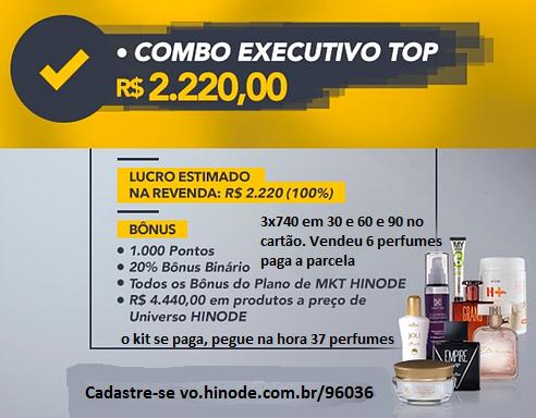 Kit Top Hinode em 3x740 para 30 e 60 e 90