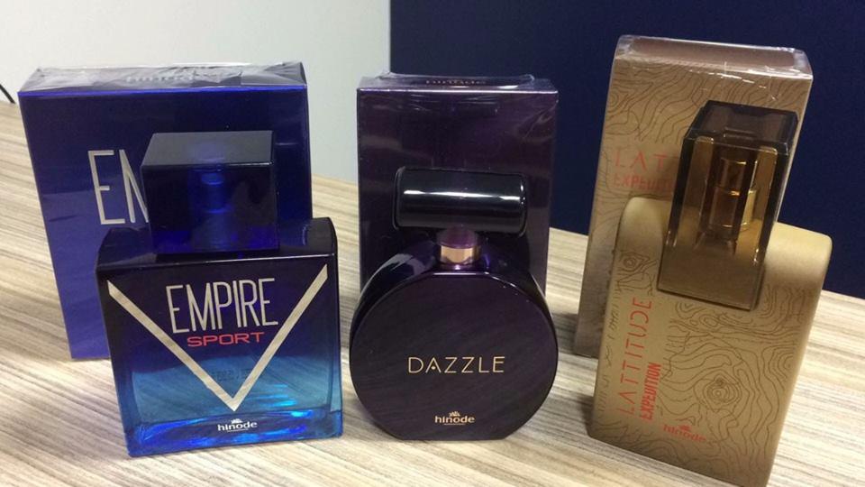Perfumes da grife Hinode