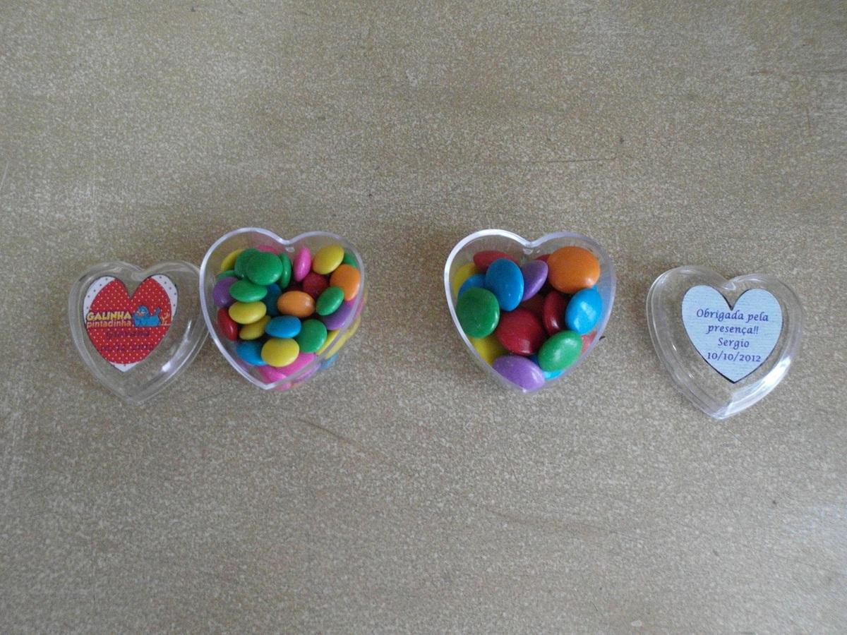 Coração de acrilico confete, mini confete