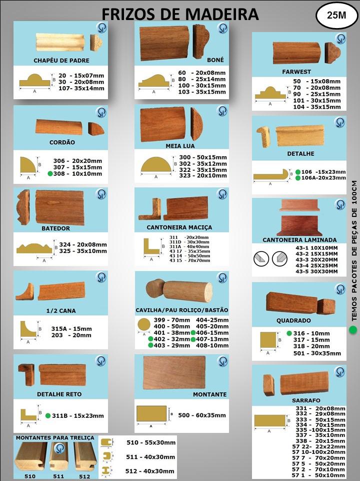 frizos de madeira