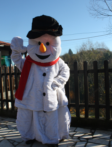mascote de boneco de neve