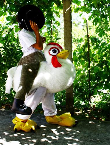 mascote de galinha