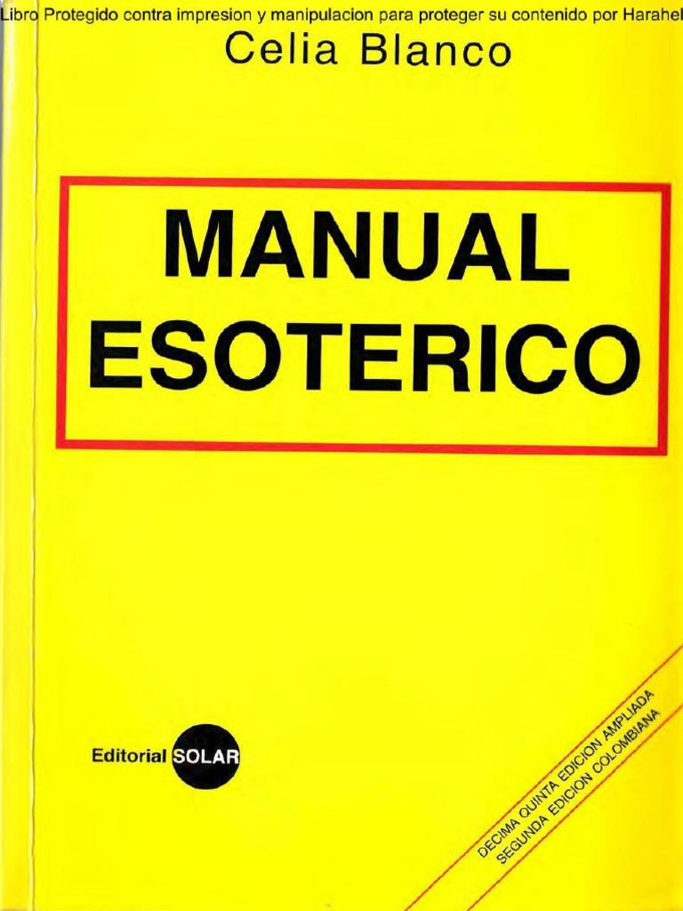 imagem do livro manual esotérico