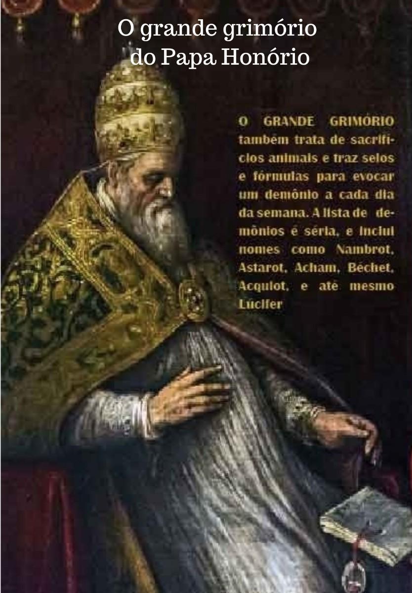 imagem do livro o grande grimório do papa honório