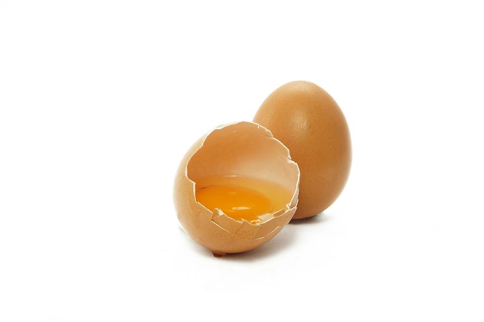 Gema de ovo, cabelo