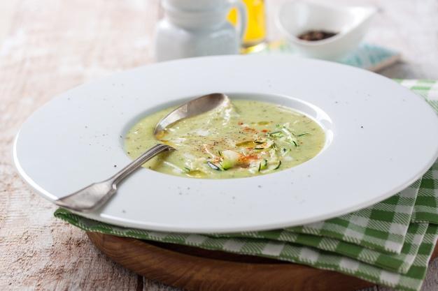 Sopa de aveia com queijo