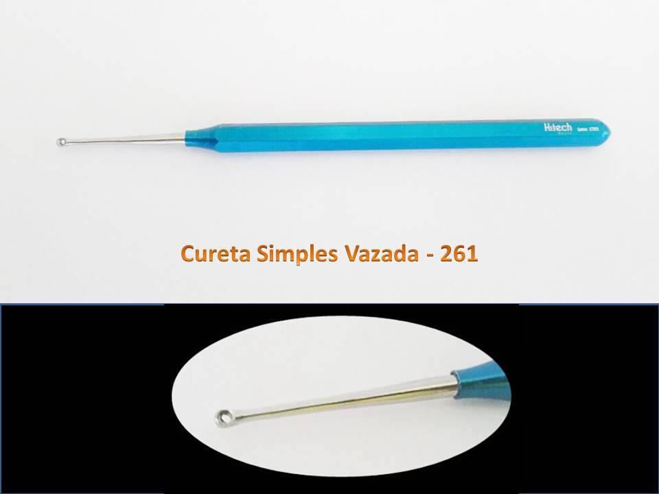 Cureta simples vazada-261 Hitech