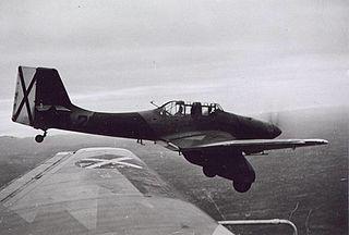 Junkers Ju 87A with Spanish rebel markings