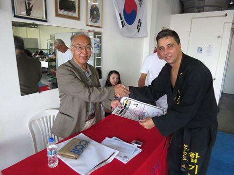 Mestre Joubert e grão mestre Park Sung Jae