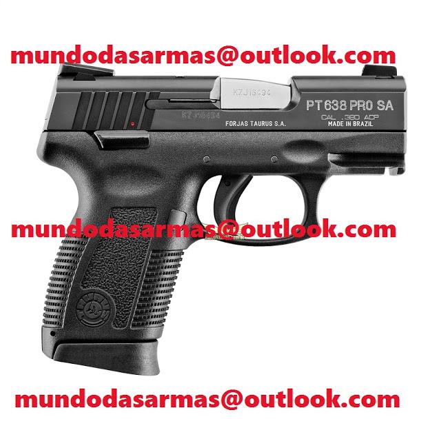 Pistola Taurus PT 638 pro calibre 380 16 tiros