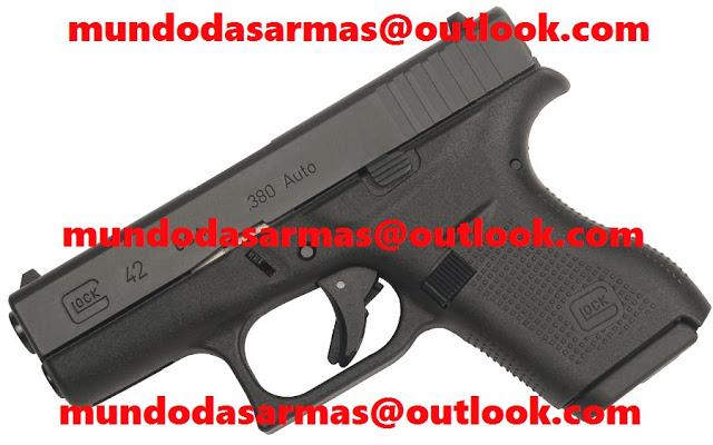 Pistola Glock G42 calibre 380 6 tiros
