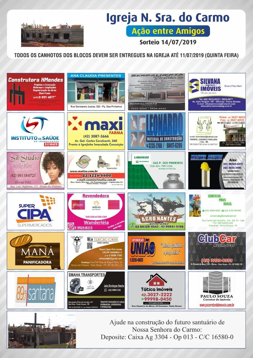 Ação 2019 patrocinios
