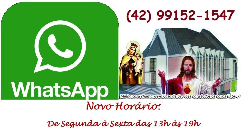 Novo horário WhatsApp