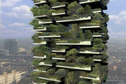 Bosco verticale em Milão, Itália.