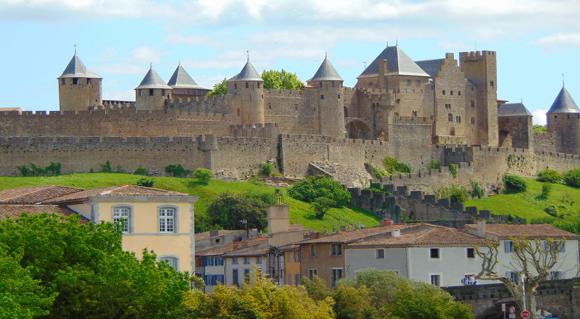 Cidade Medieval de Carcassonne, França.