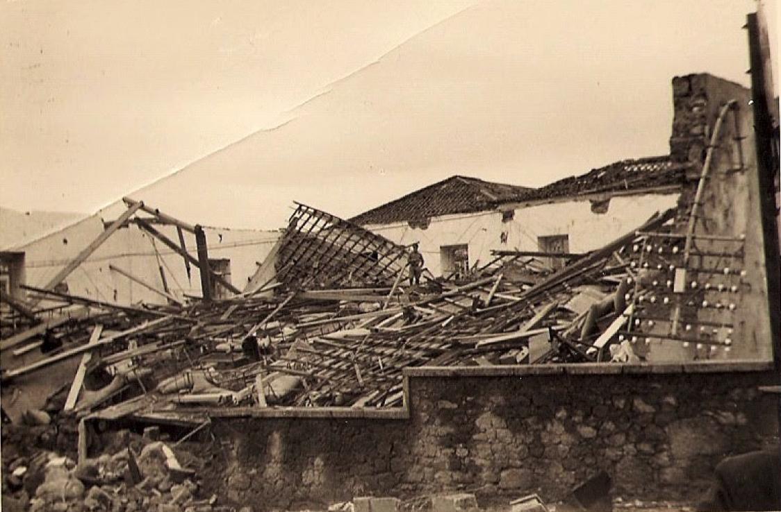 Efeitos provocados pelo tornado ocorrido em 06 de novembro de 1954 em Castelo Branco.