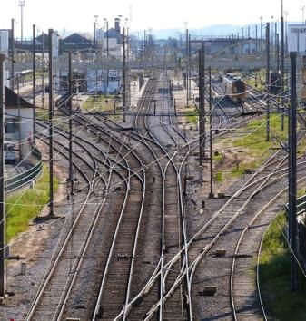Estação de caminhos de ferro do Entroncamento.