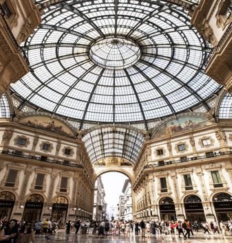 Galeria Vittorio Emanuele II em Milão, Itália.