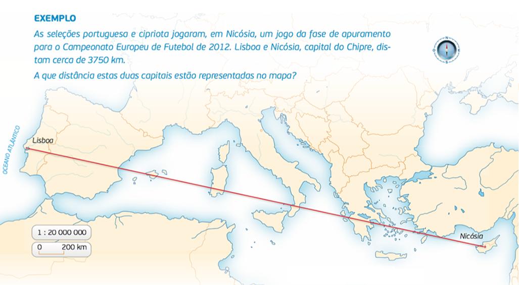 Distância entre Lisboa e Nicósia.