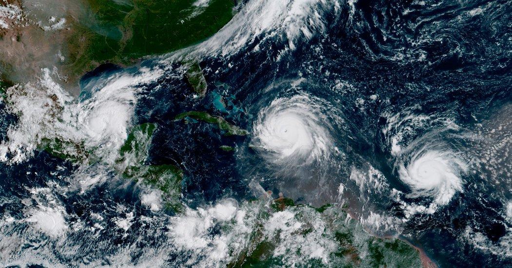 Furacões ocorridos em setembro de 2017 no Mar das Caraíbas e no Golfo do México.