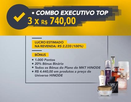 Faça o cadastro Hinode e compre o kit de negócio e escolha o Combo Top