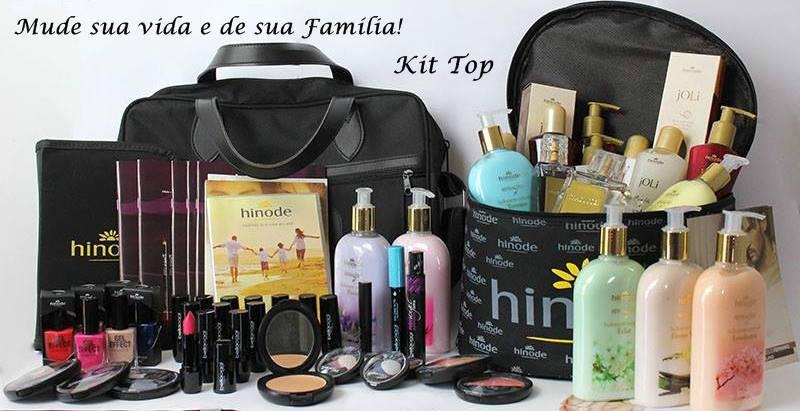 Bolsa com kit top Hinode escolha entre perfumes e cosméticos