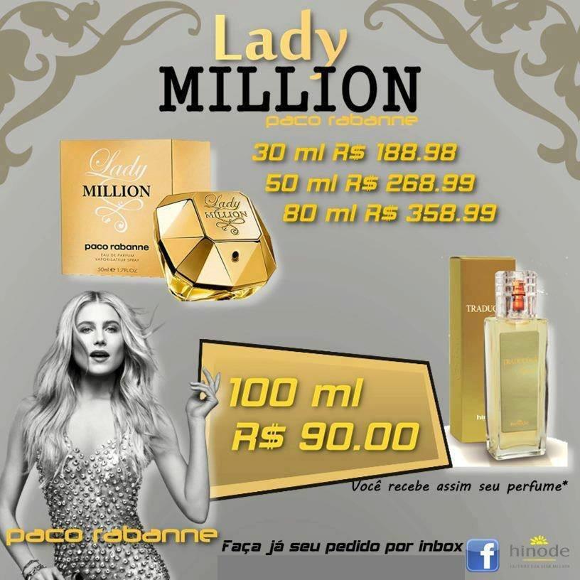 Perfume Lady Million Hinode trabalhe com este perfume venda. Compre no site: www.hinodeonline.net/96036